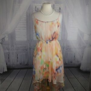 Forever 21 Hi-Lo Sleeveless Sheer Dress.Size 8.P7